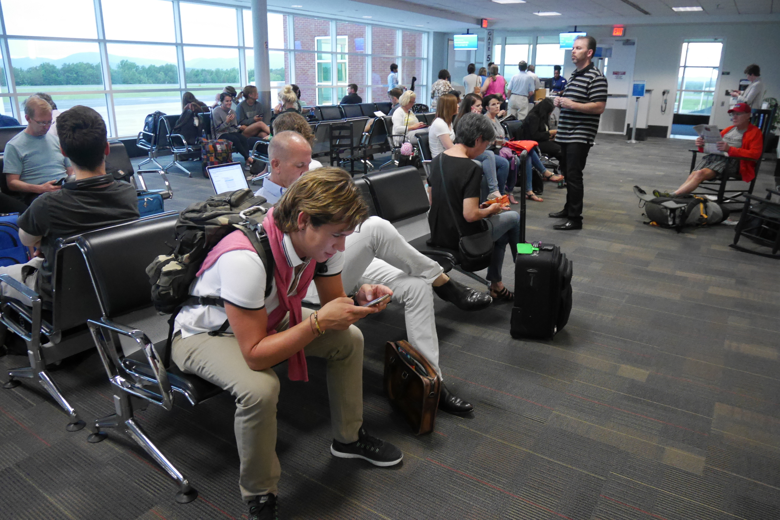 Waiting in Charlottesville, VA, airport...