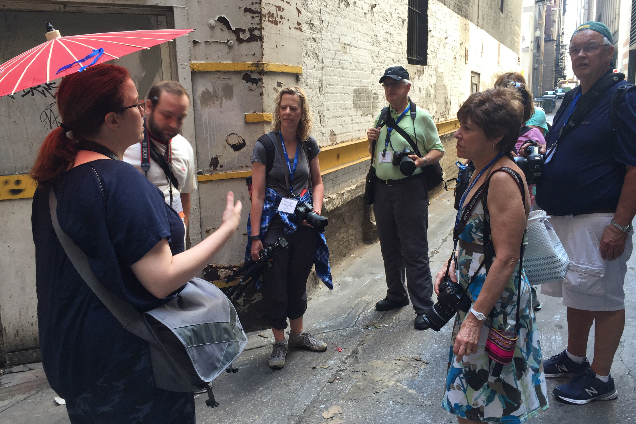 Molly Porter giving some tips on shooting strangers on the street.