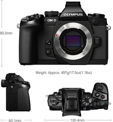 Specs of the original Olympus OM-D E-M1 camera body.[Olympus Image]