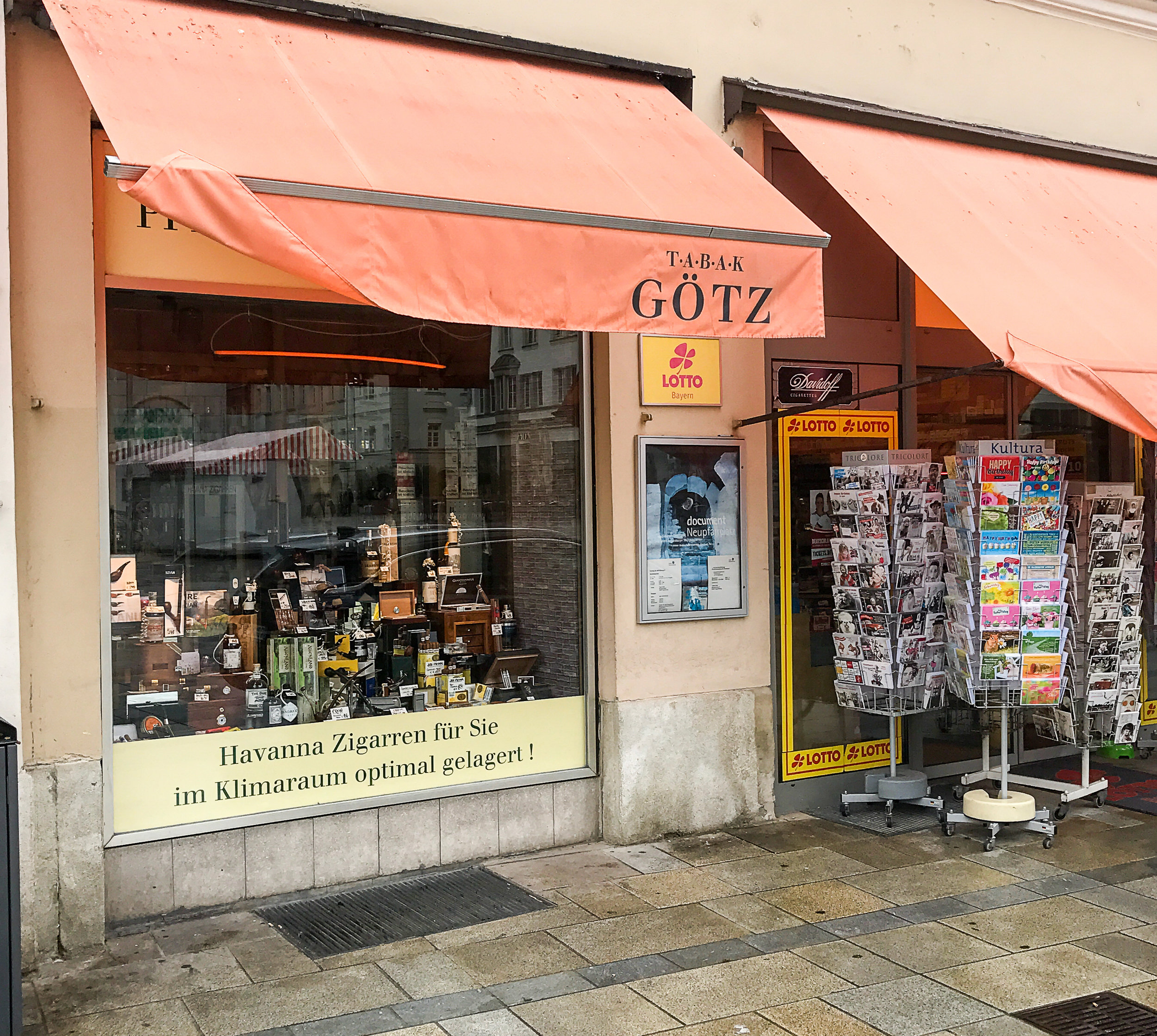 Peter Götz' main store in Regensburg.