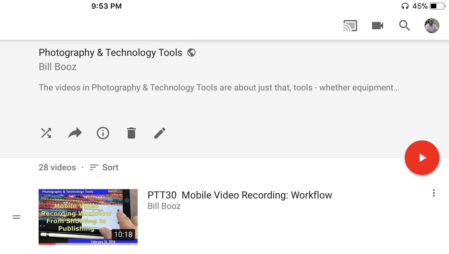 My  Photography & Technology Tools  series.