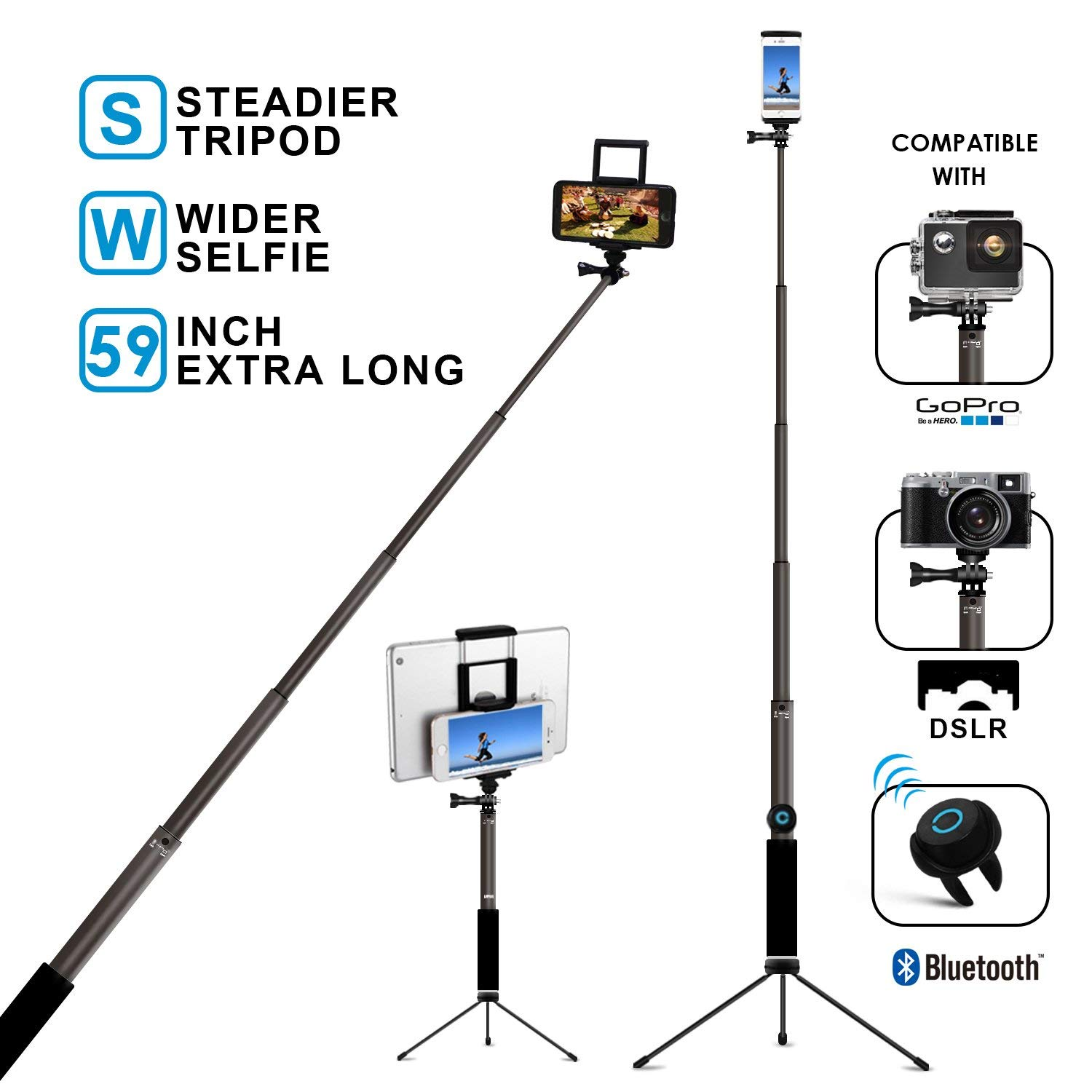 Included in camp fee: lavalier mic, smartphone holders, table-top tripod, and selfie stick with Bluetooth trigger - Retail value: $51!