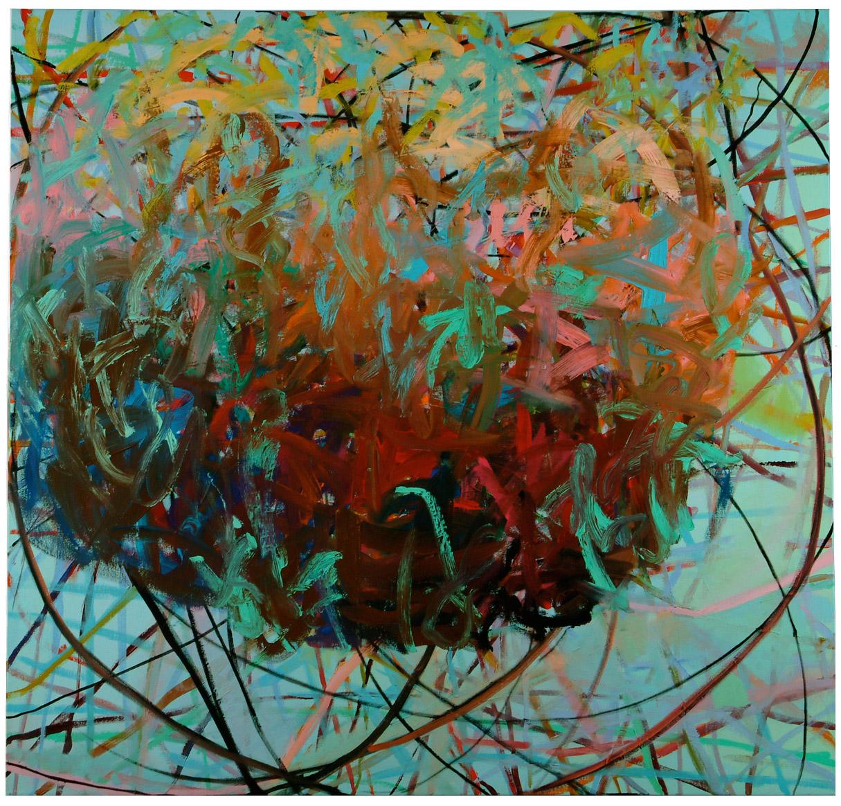 Shrub   48 × 50 inches 122 × 127 cm Oil on canvas 2005