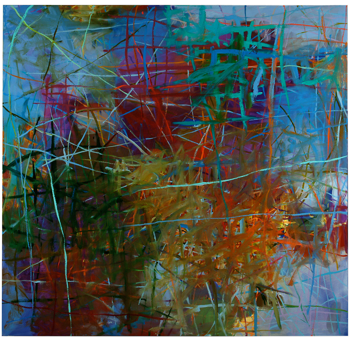 Twilight   50 × 52 inches 127 × 132 cm Oil on canvas 2005