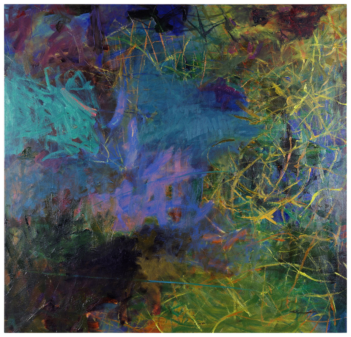 Loon   53 × 55 inches 134 × 140 cm Oil on canvas 2006