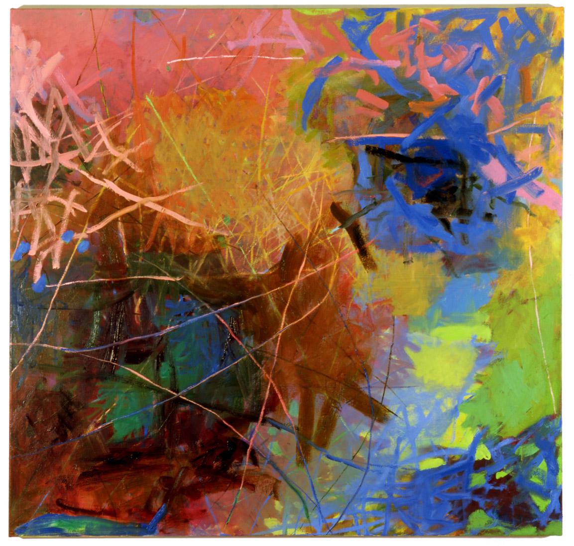 Between   53 × 55 inches  134 × 140 cm Oil on canvas 2007