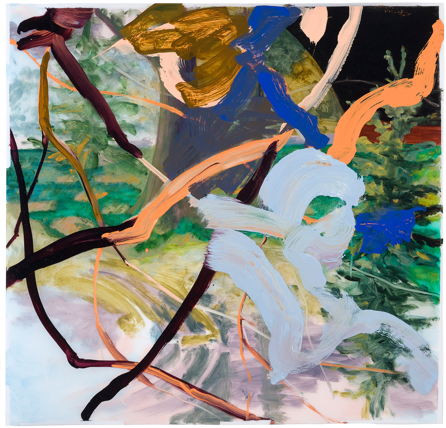 The Temperature of the Air   26 × 27 inches 66 × 69 cm Oil on polyester 2012