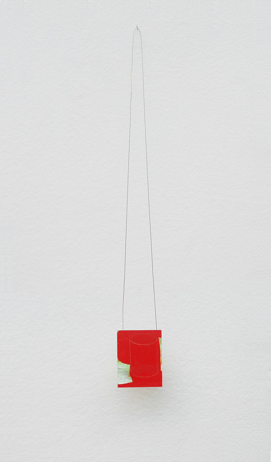 Possibly Now II   Oil on wood, wire 54 × 7 × 4 inches 137 × 118 × 10 cm 2014
