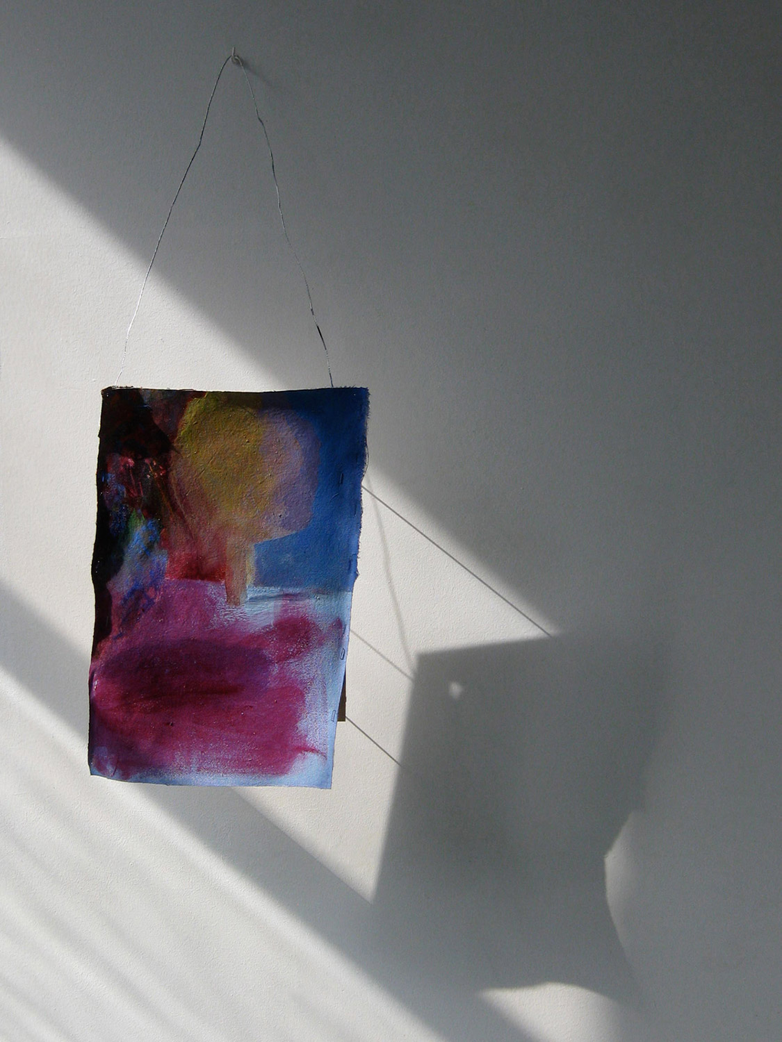 Possibly Now VII   Oil on canvas, wood, wire 57 × 10,5 × 4 inches 145 × 27 × 10 cm 2014