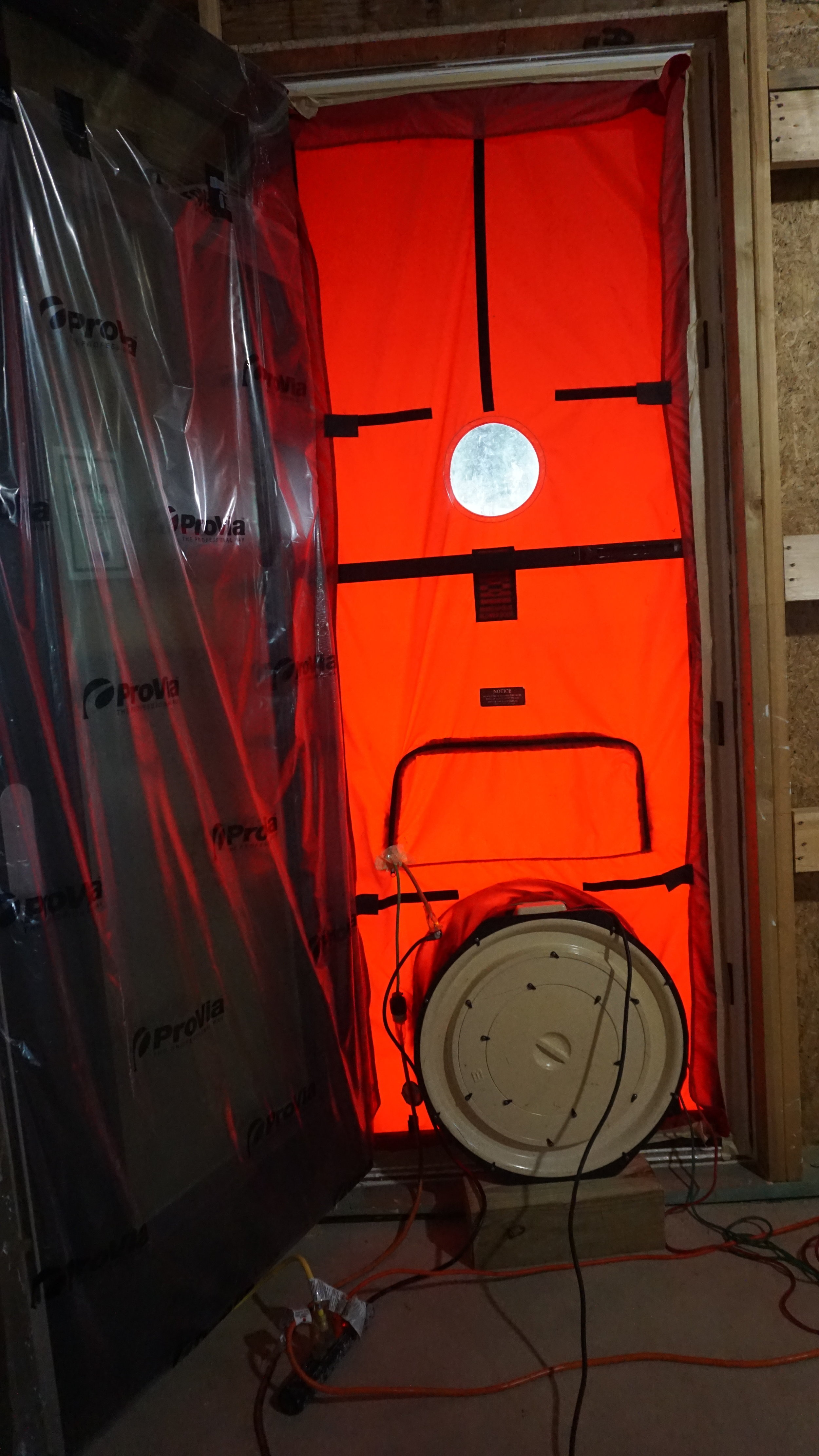 Positive Energy Passive House Austin Blower Door