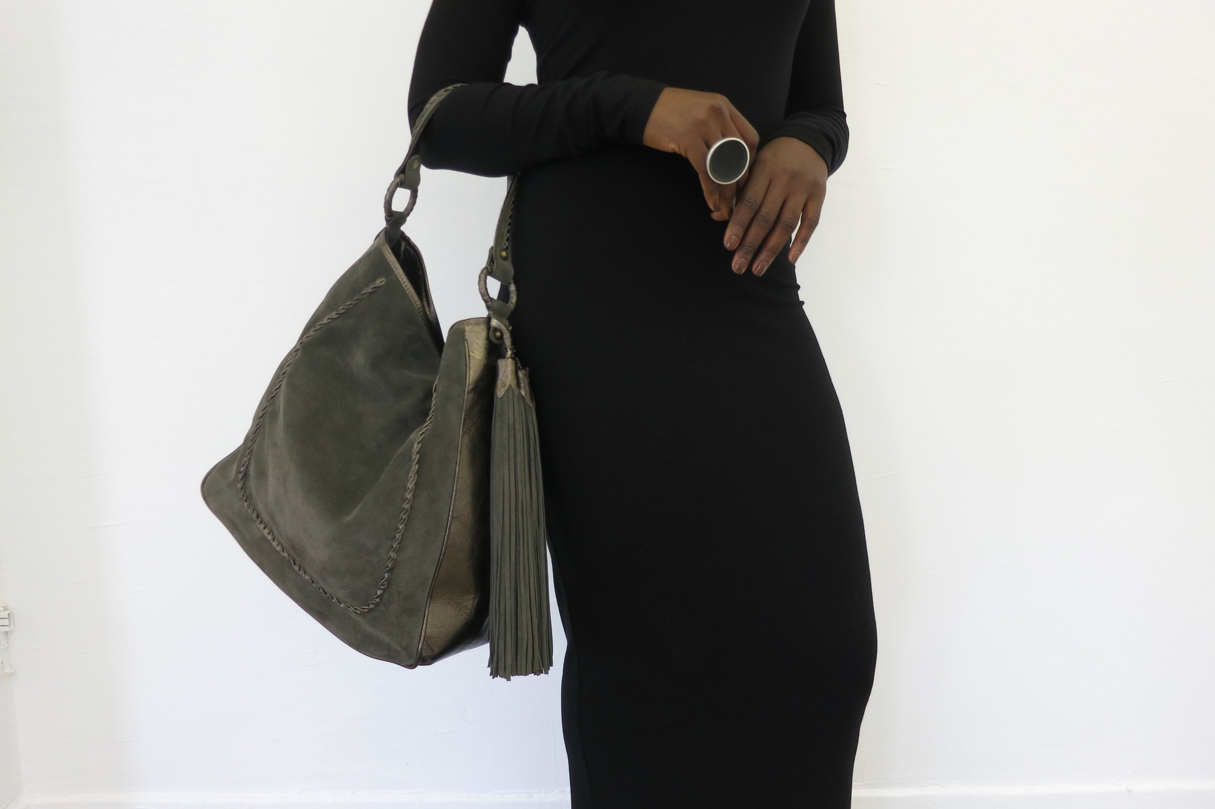 Anthony Luciano Grace Hobo Olive Suede