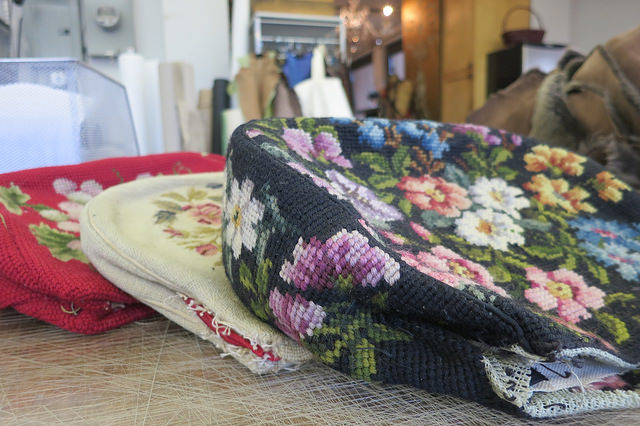 Vintage needle point bags