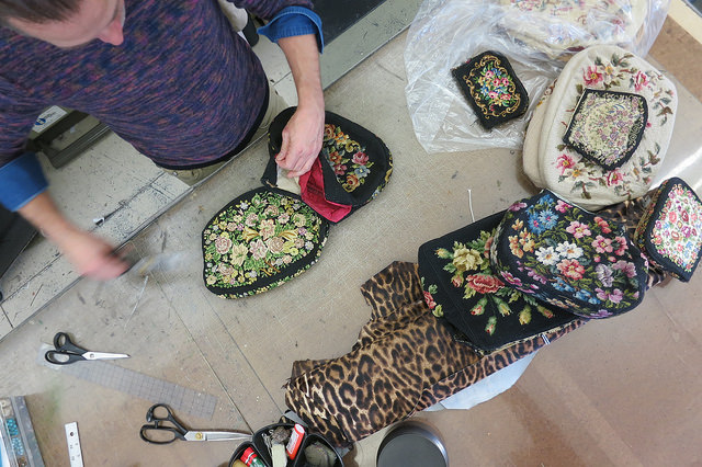 Deconstructing the needlepoint bags