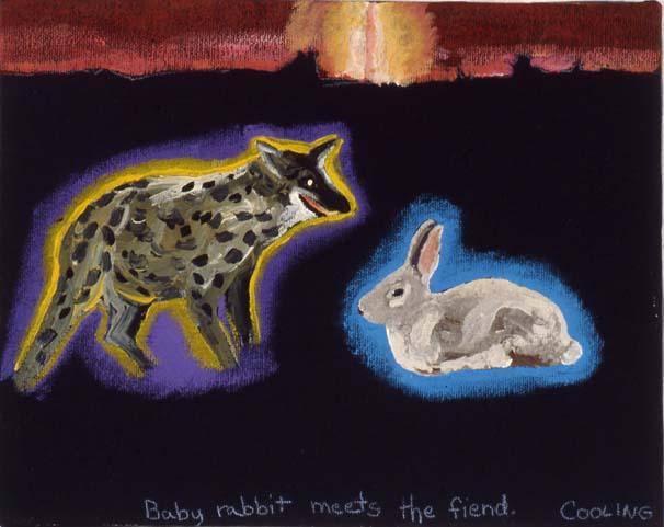 Baby Rabbit Meets Fiend - © JL Cooling 2016