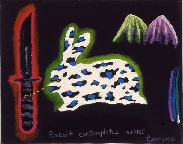 Rabbit contemplates murder - © JL Cooling 2016
