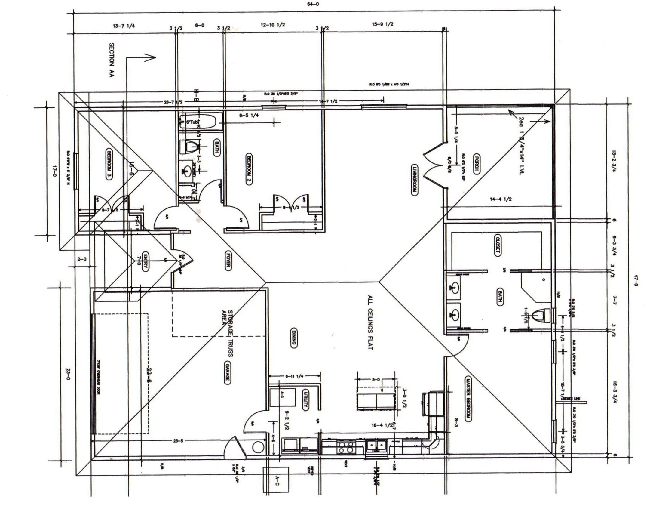 Floor Plan Brick Ranch