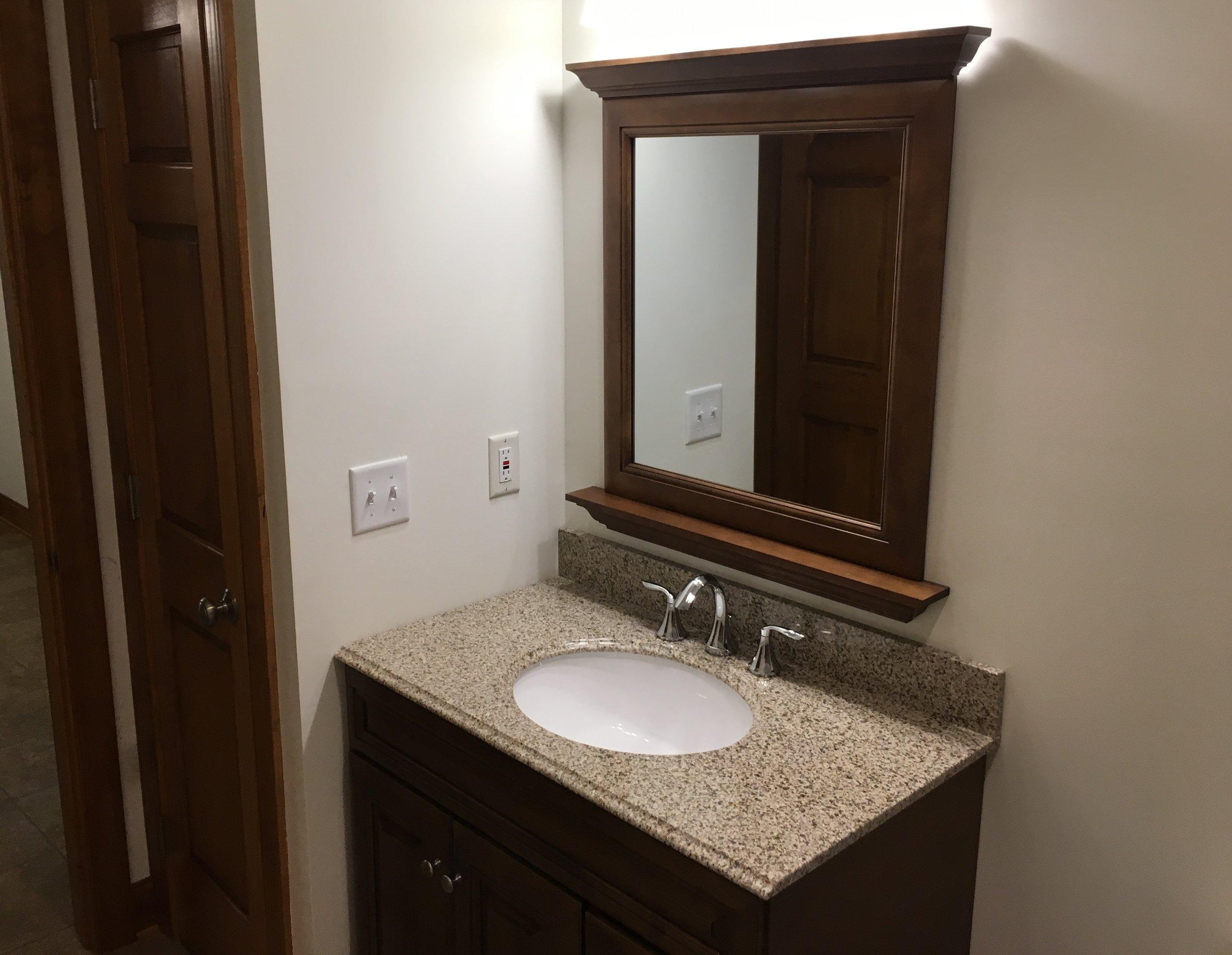 Bathroom #2 Vanity & Mirror