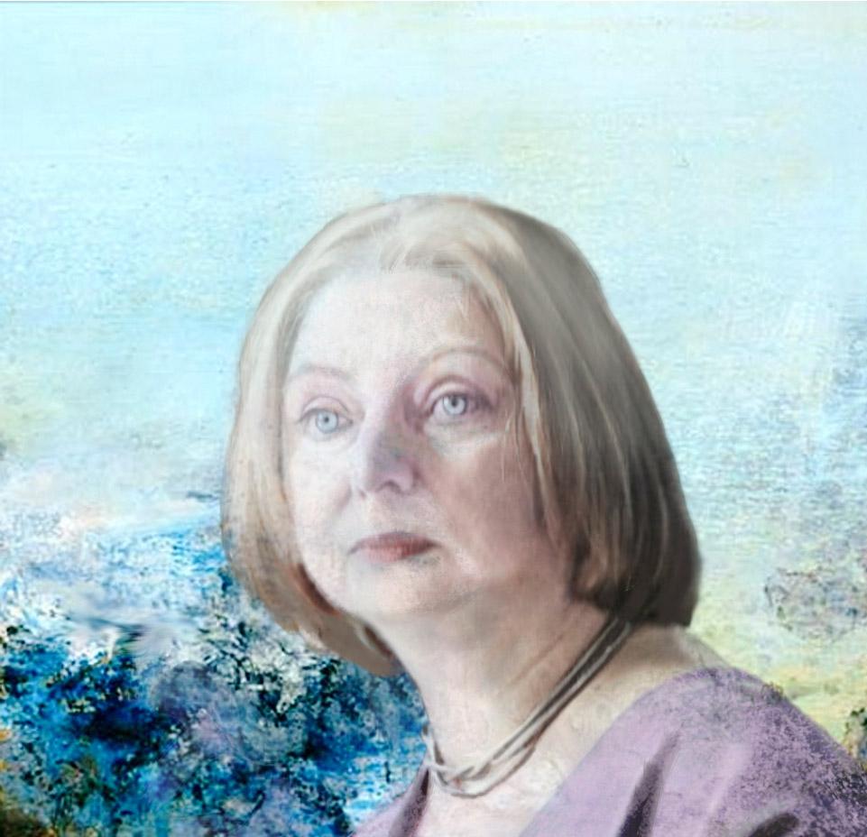 Portrait of Hilary Mantel by Mia Funk