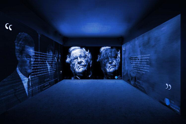 projection3panels-auster-chomsky-fischl.jpg