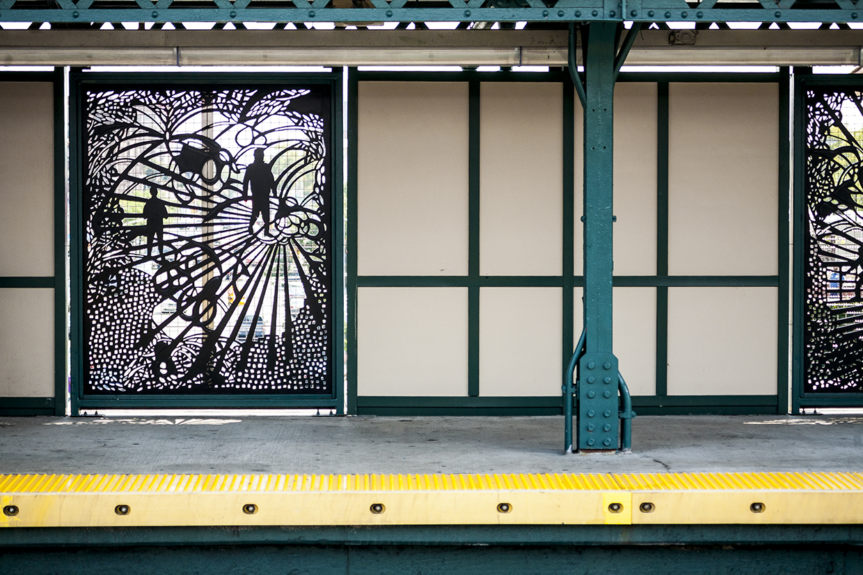 Photo Credit: Ken Shung, (detail image), 2017  Priscila De Carvalho (IAP '08/'13), Bronx: Heart, Homeland, 2015, Installation View. Location Castle Hill Avenue (6 train).  To read the interview click     here