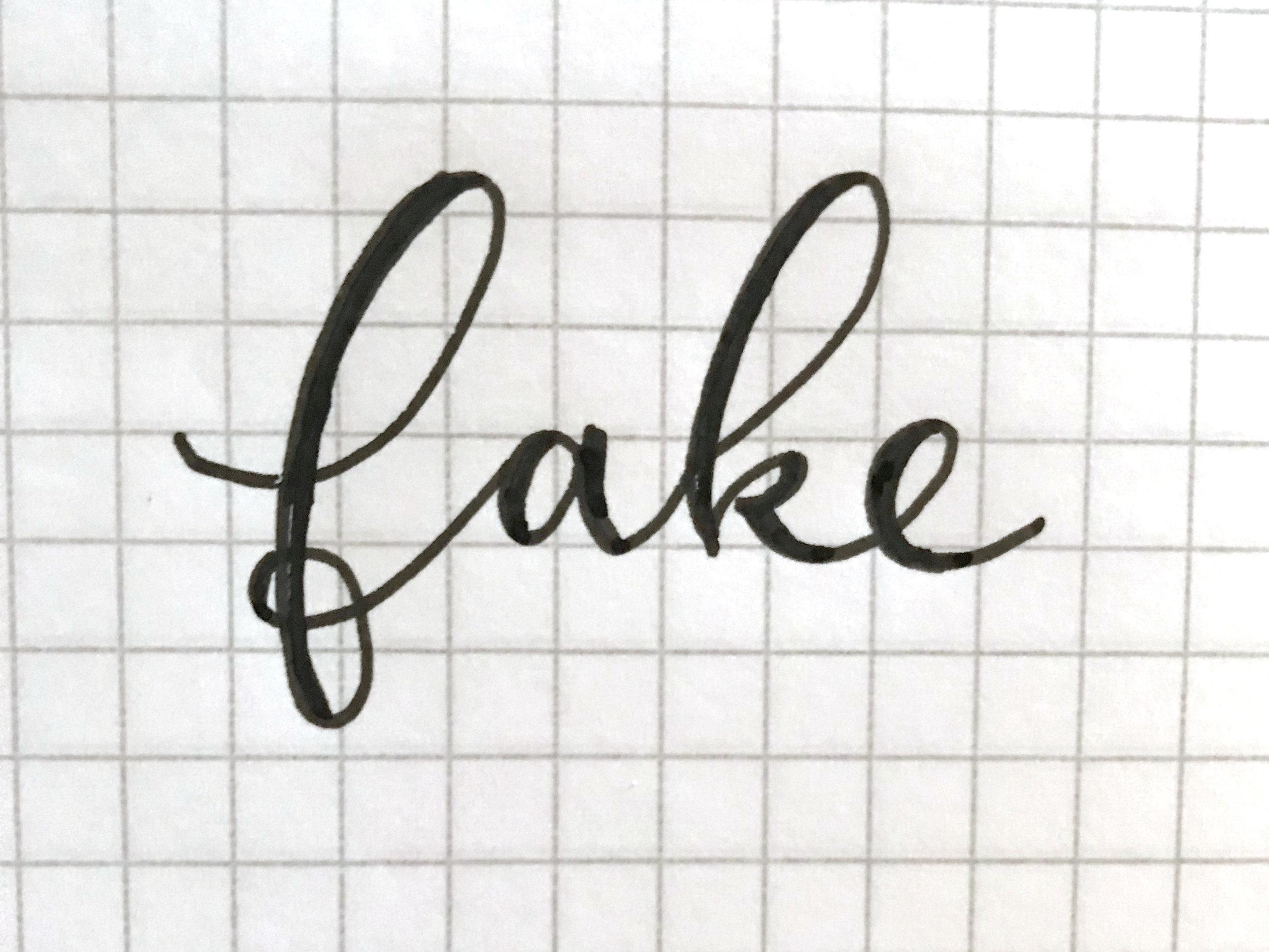 Fiber & Dye   No-Nib Calligraphy in just 3 steps