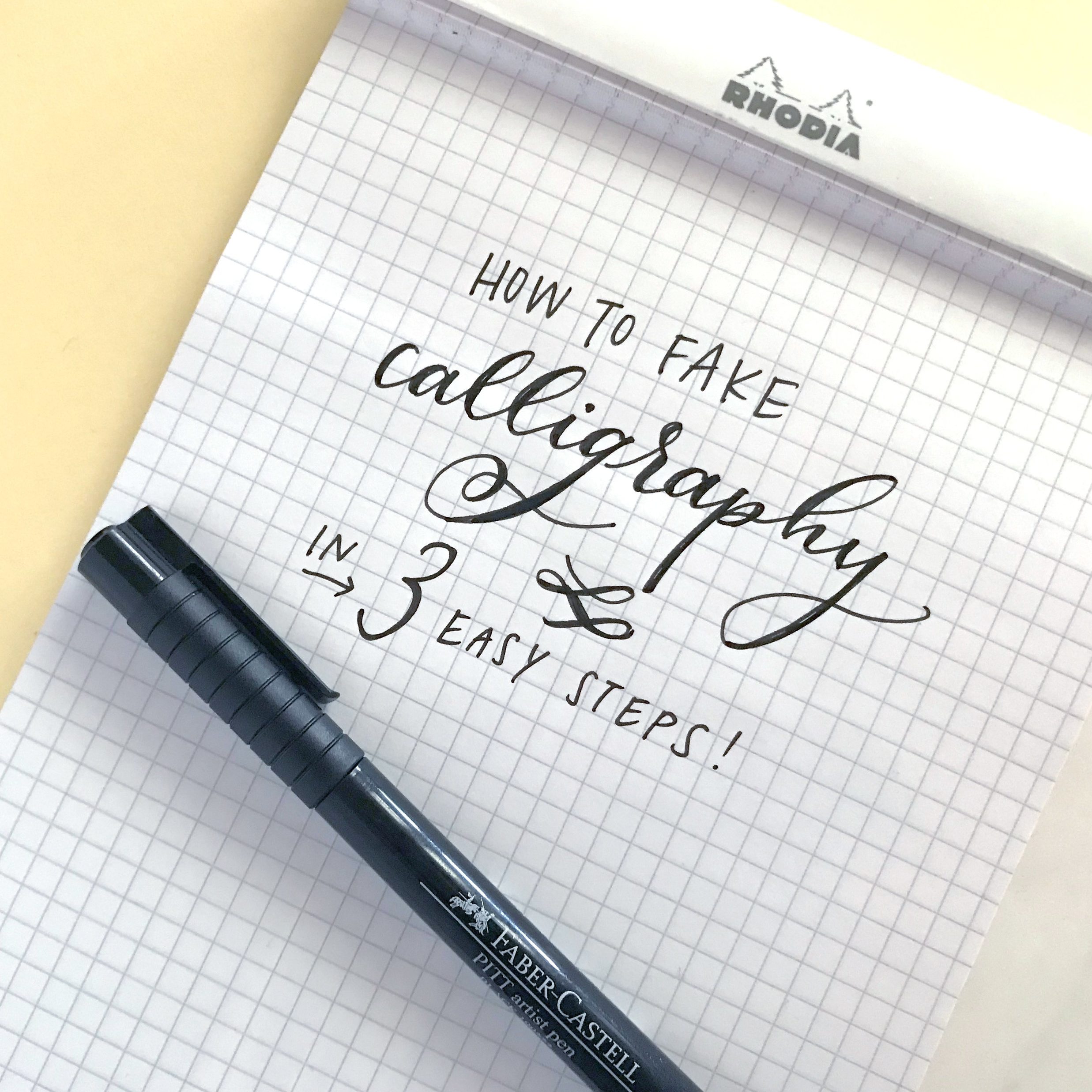 Fiber & Dye | No-Nib Calligraphy in just 3 steps
