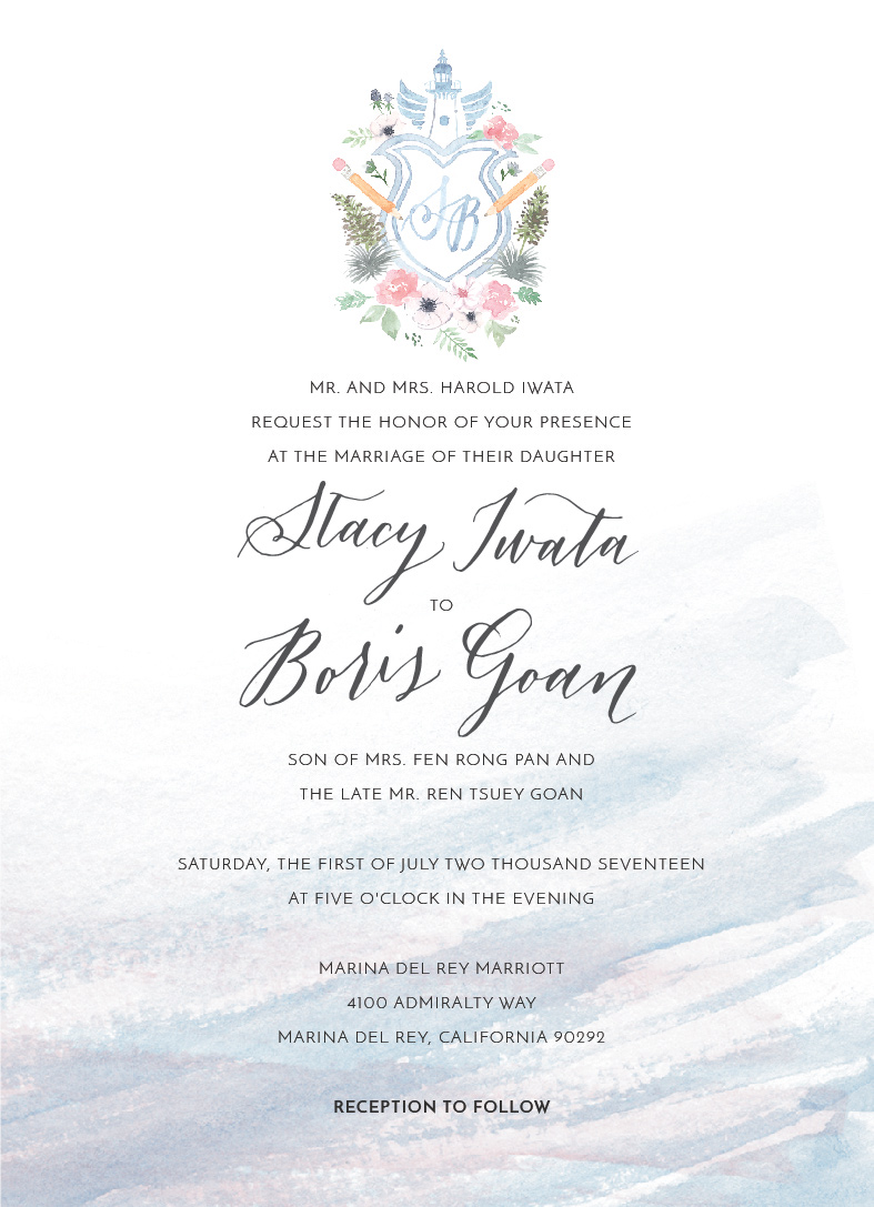 The rest of the invitation is pretty simple, and the crest is the star here