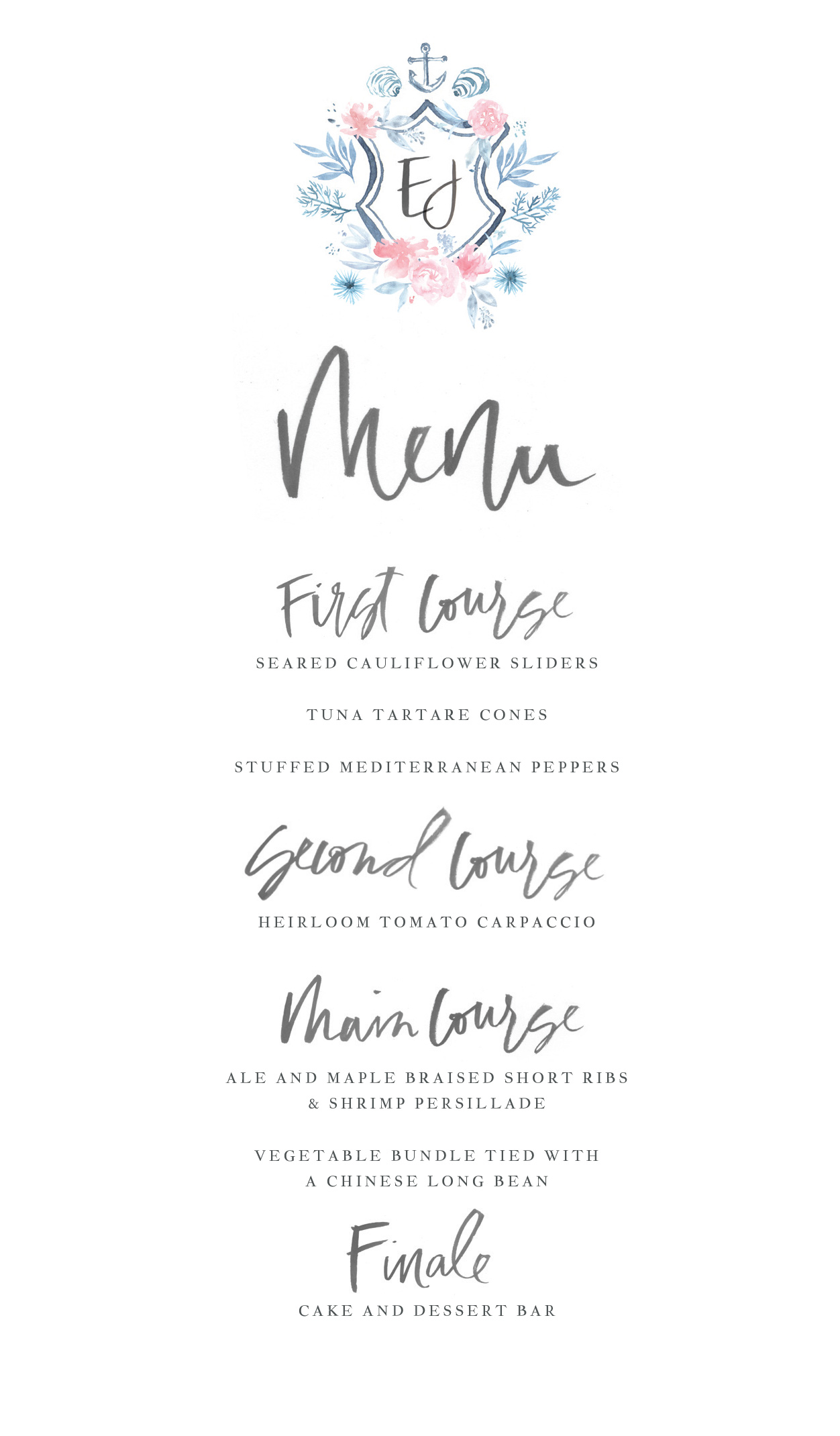 The menu is easy to overlook, but it could be the star of your table setting.