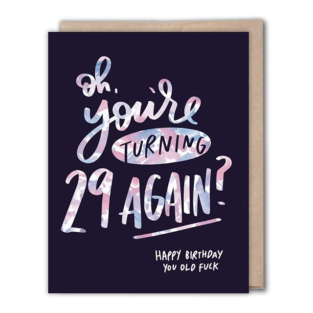 Happy birthday, you old fuck. Tag someone who's totally gonna get this card this year.⠀⠀⠀⠀⠀⠀⠀⠀⠀ .⠀⠀⠀⠀⠀⠀⠀⠀⠀ .⠀⠀⠀⠀⠀⠀⠀⠀⠀ . ⠀⠀⠀⠀⠀⠀⠀⠀⠀ #dailydoseofpaper #greetingcards #greetingcard #greetingcarddesign #papergoods #paperlove #snailmail #sendmoremail #stationery #stationeryaddict #stationerylove #paperaddict #happymail #creativelifehappylife #creativebusiness #shopsmall #makers #makersgonnamake #flashesofdelight #petitejoys #watercolor #risingtidesociety #communityovercompetition #thelittlevictories #wearethecreativeeconomy #tsbcalum #madeinLa #madeincalifornia #handmadeisbetter #etsy