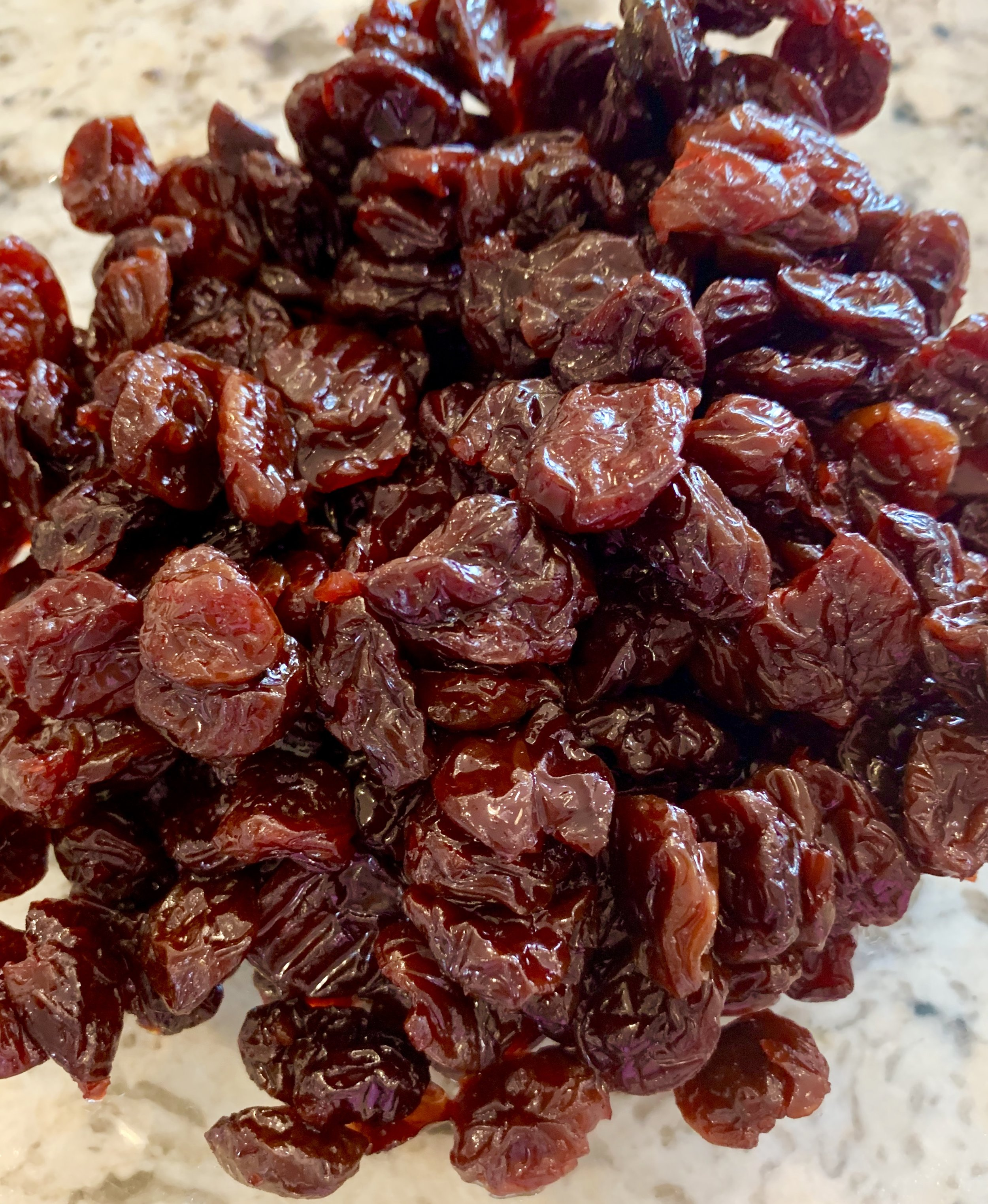 Start with very moist and sweet dried cherries.
