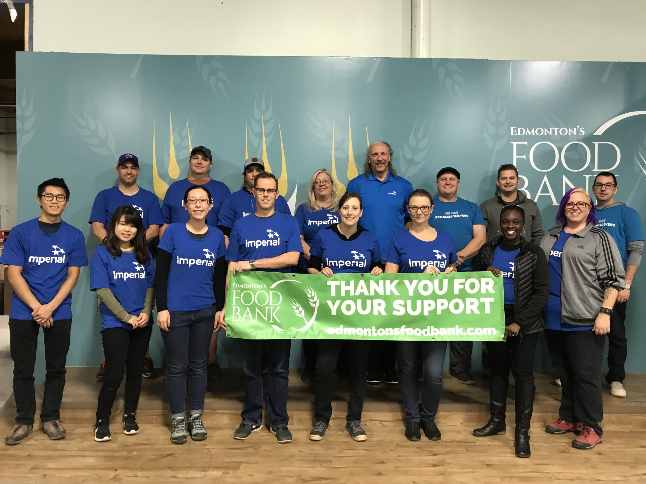 Imperial Day of Caring at Edmonton's Food Bank