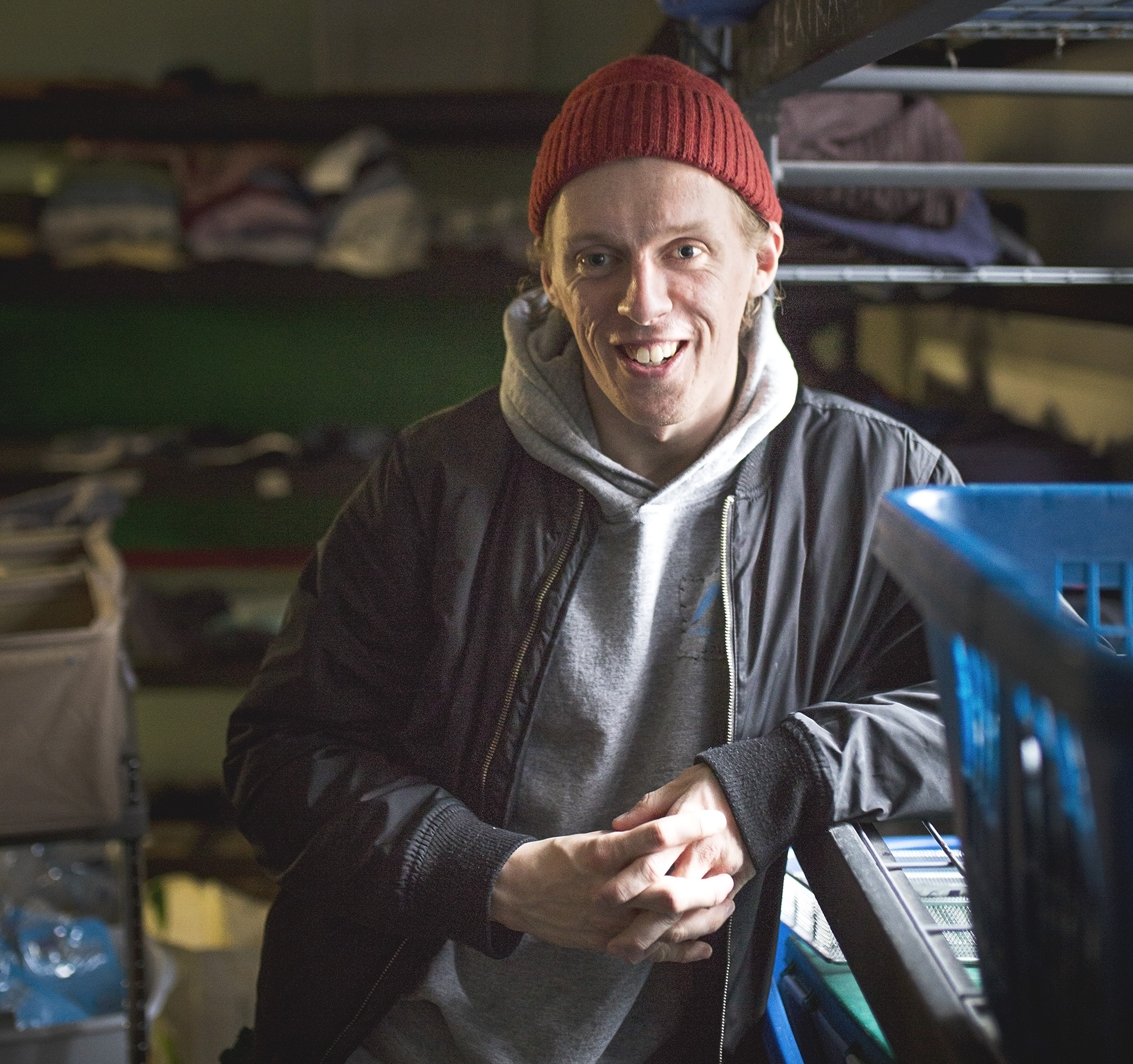 Travis works part time at a local shelter, where he uses his own past to help people experiencing homelessness.