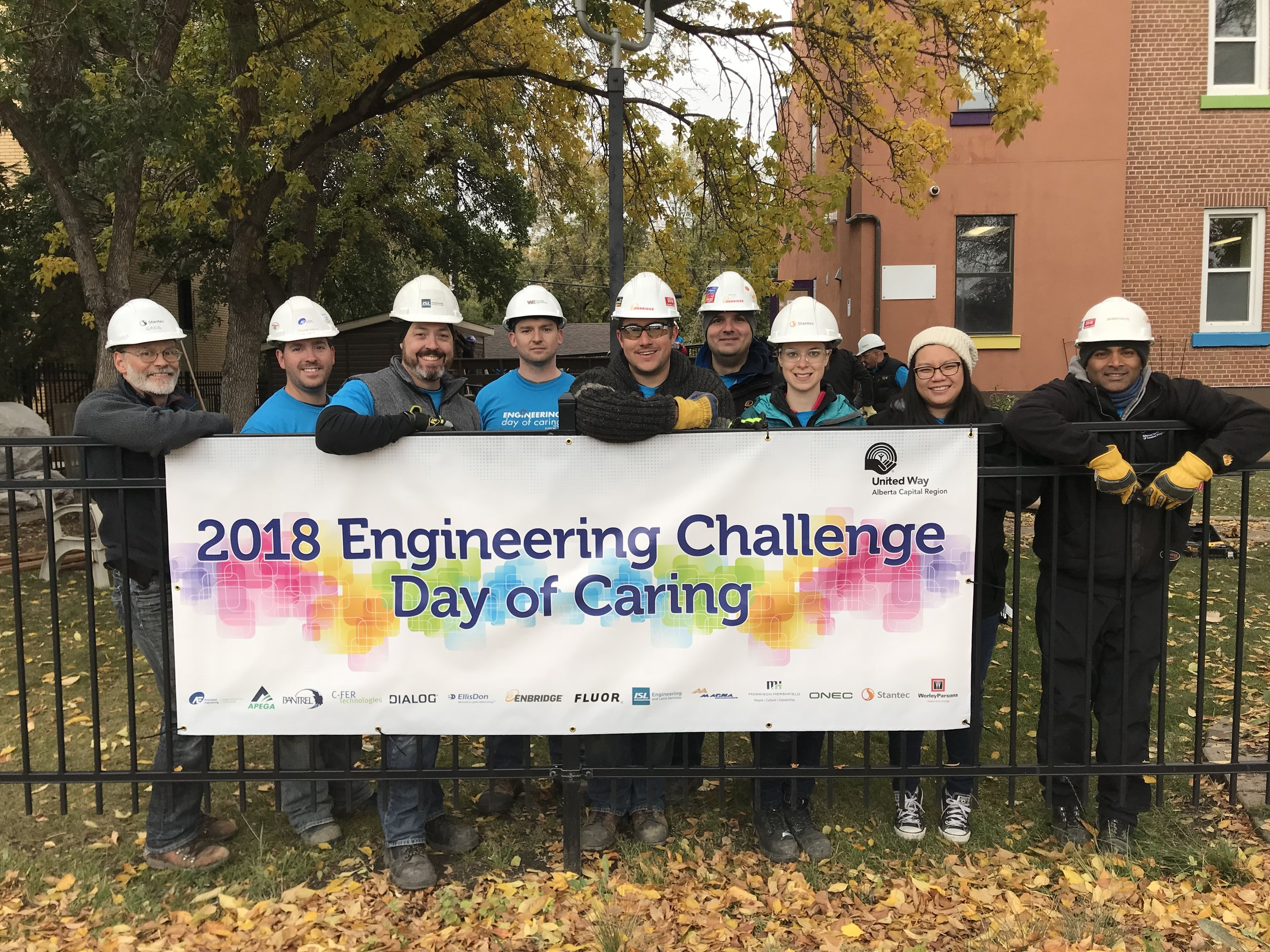 Volunteers at Engineering Challenge Day of Caring at Youth Empowerment Support Services