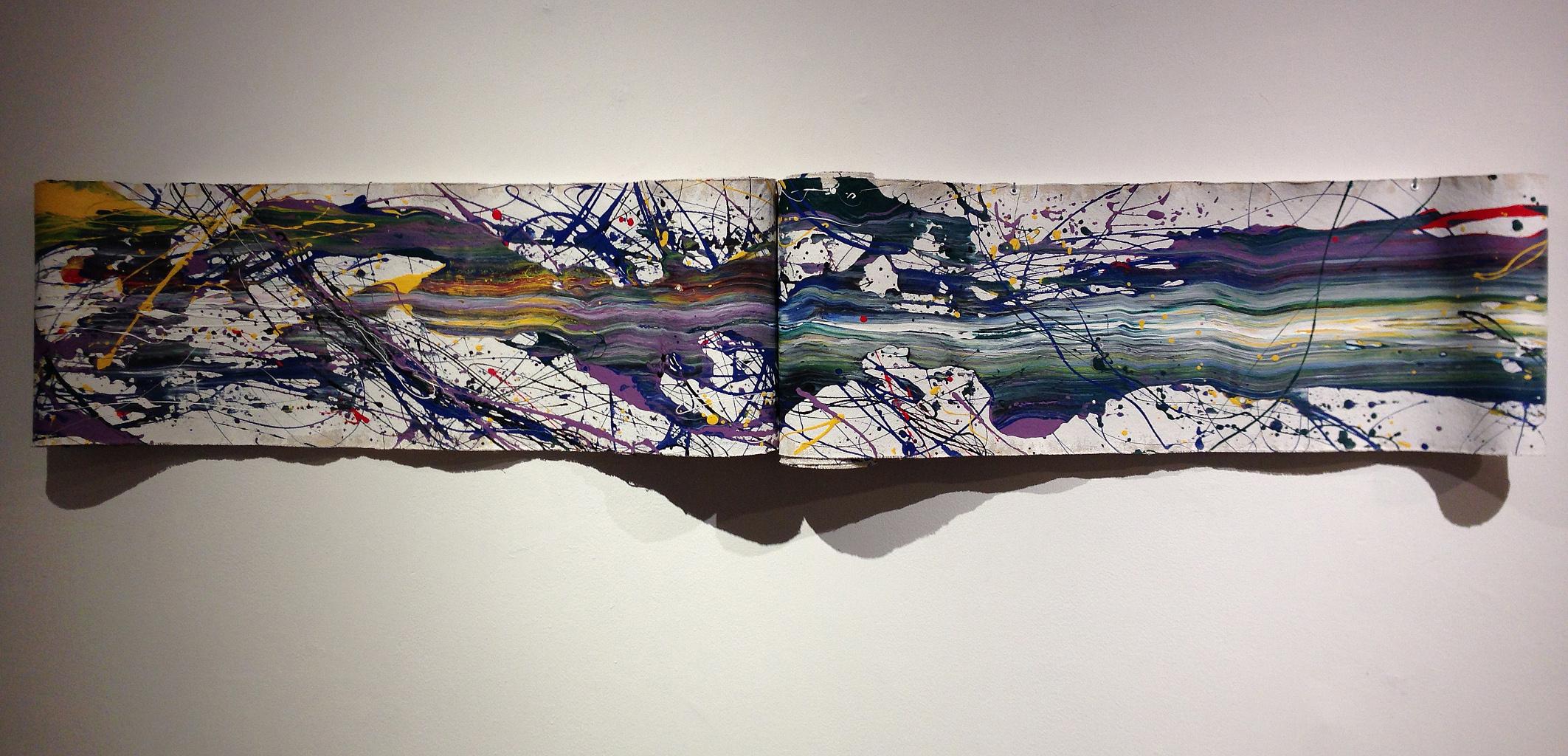 "Trinity   - 2013 – Acrylic on canvas, rolled. 12"" × 252""."