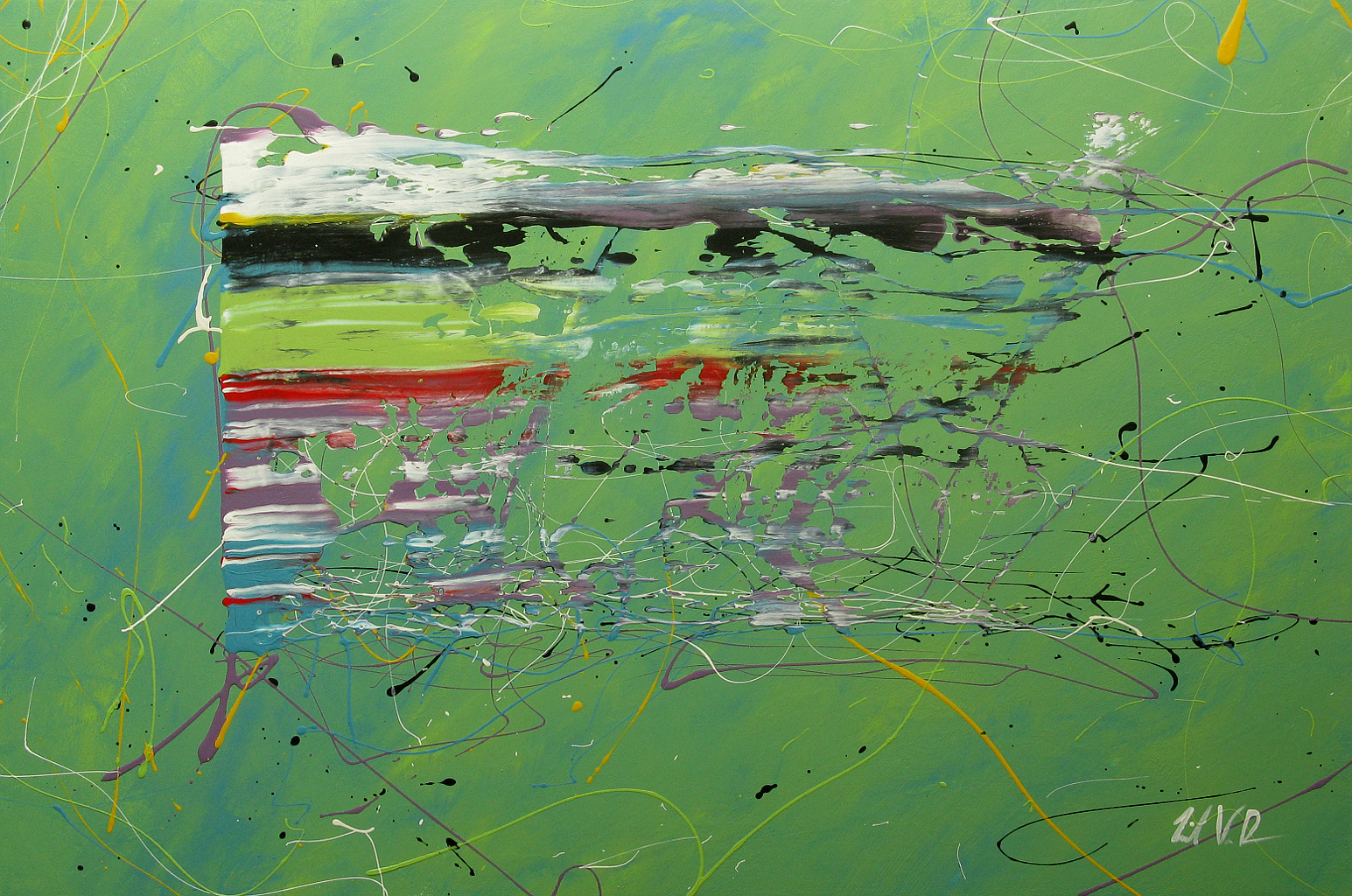"""To Be Living   - 2013 - Acrylic on panel. 24"""" × 36""""."""