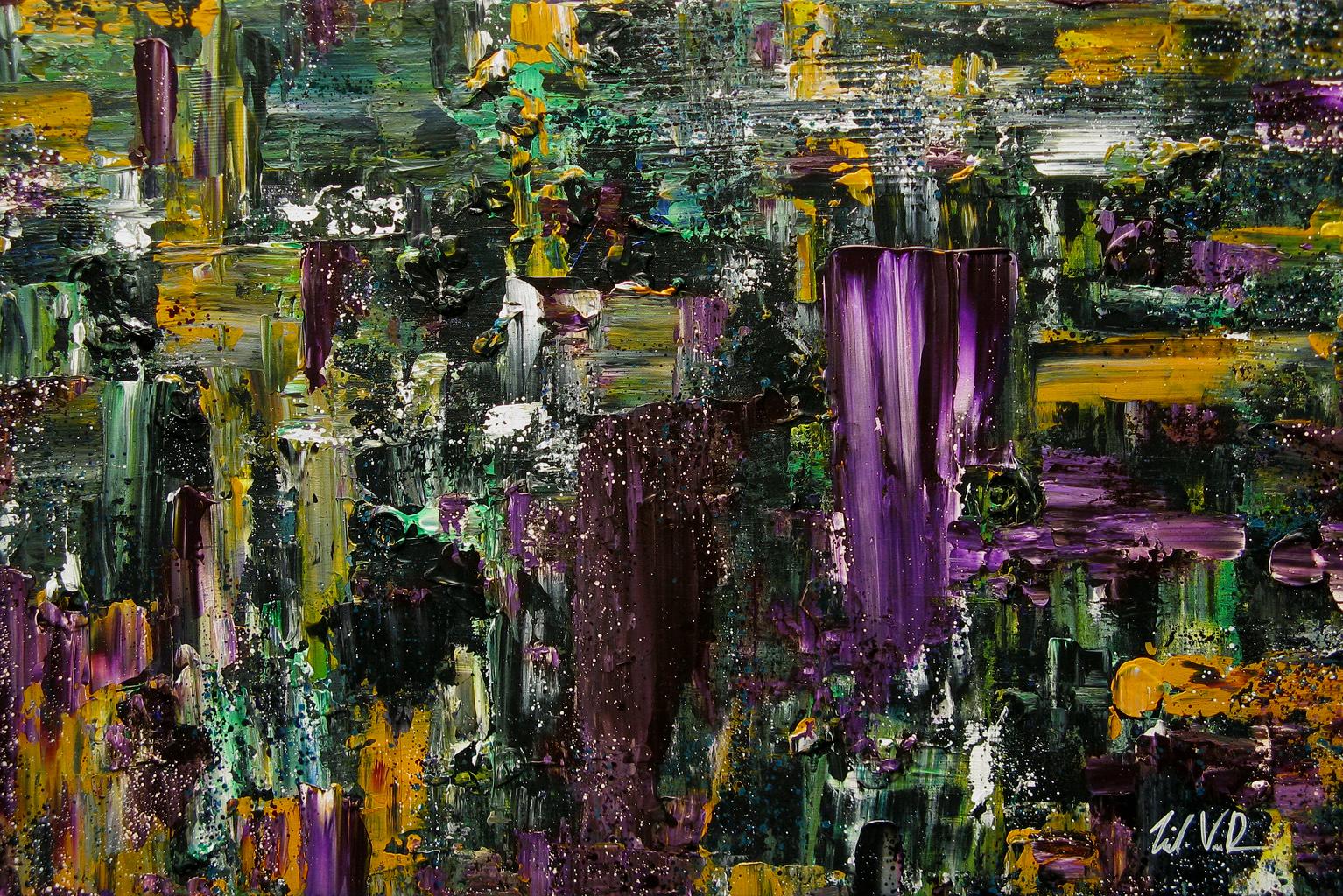 "Die Again Today   - 2011 - Acrylic on canvas. 24"" × 36""."