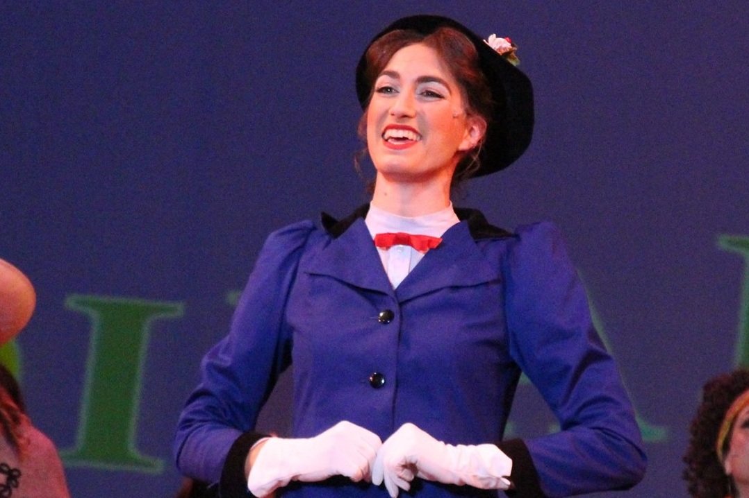 River Navaille as Mary Poppins at Pacific Repertory Theatre, 2016. Photo by Stephen Moorer.