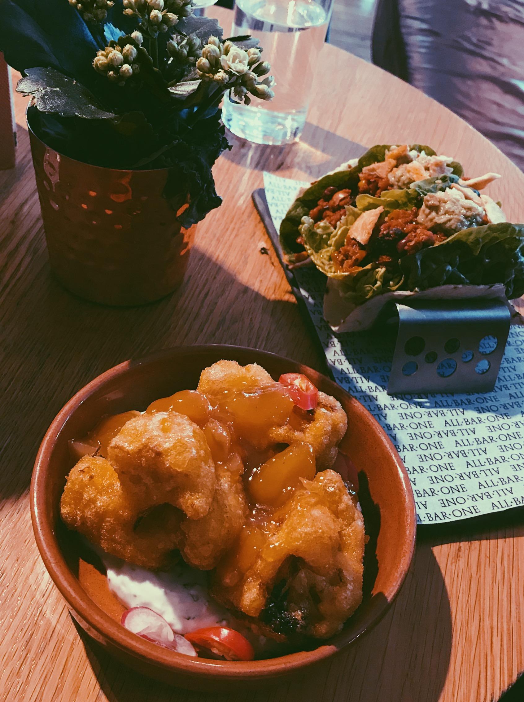hmfyoga_all_bar_one_cauliflower_wings_vegan_menu