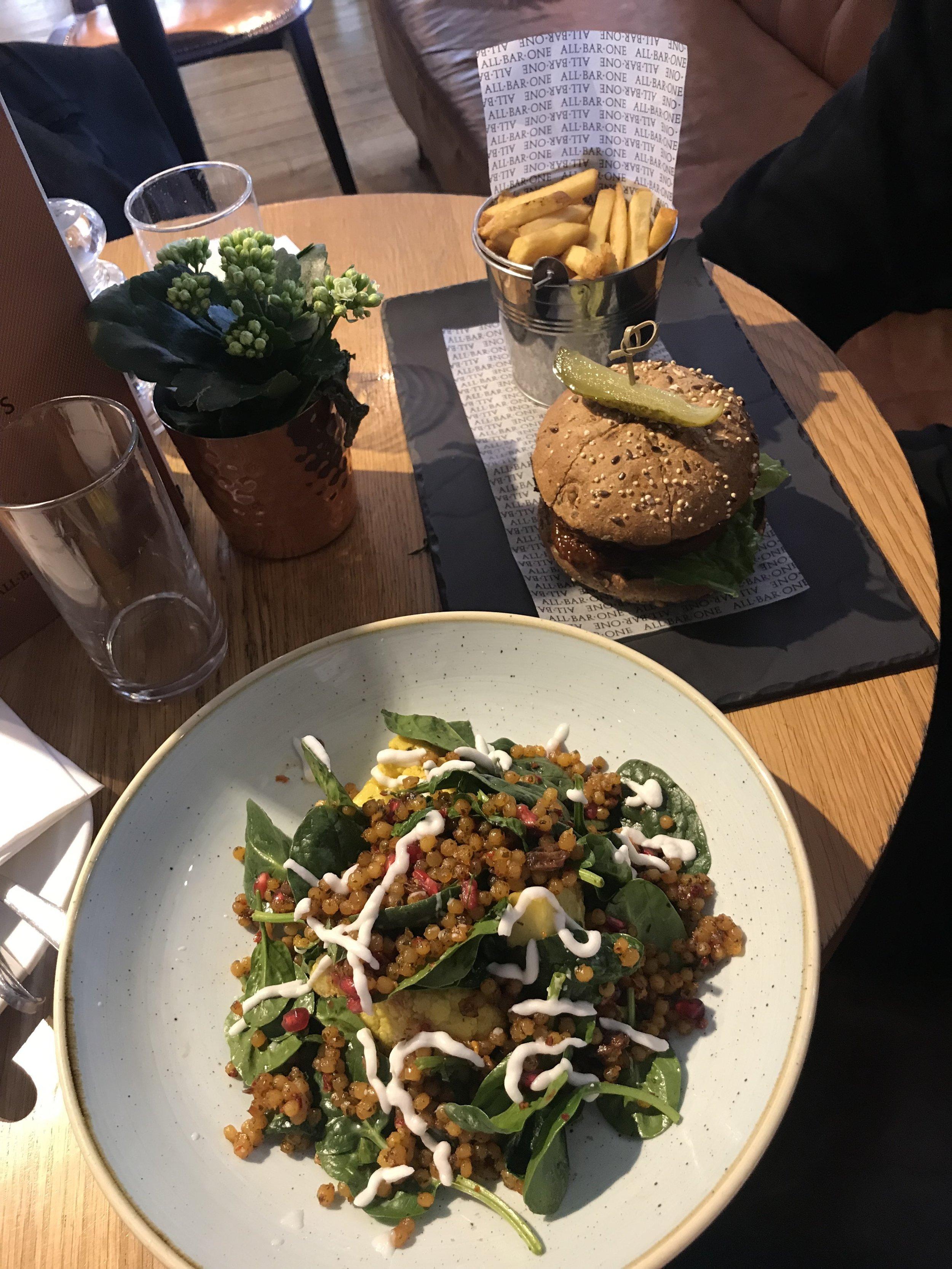 all-bar-one-plant-based-menu-vegan-hmfyoga