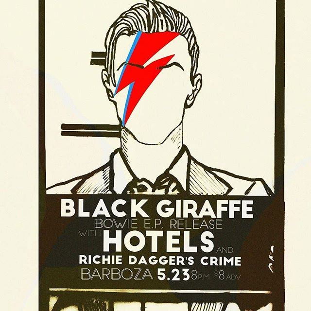 You remind me of the babes (what babes?) The babes who are gonna shake it at @barboza206 with @richiedaggr THIS THURSDAY! LET'S DANCE! . #music #seattle #livemusic #albumrelease #bowie #concert #band #show