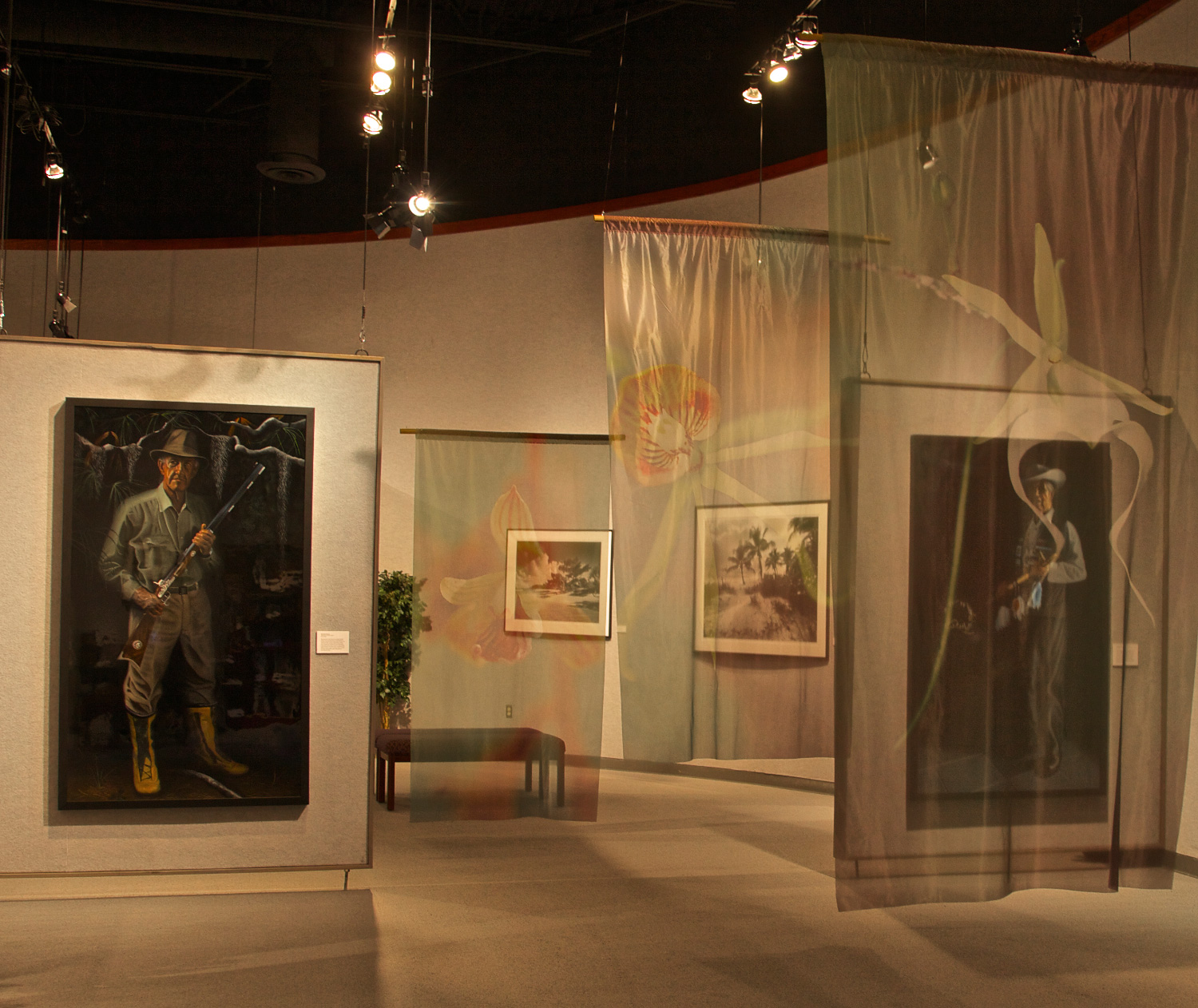 ©Connie Bransilver Guardians of the Everglades portraits and banners on display.