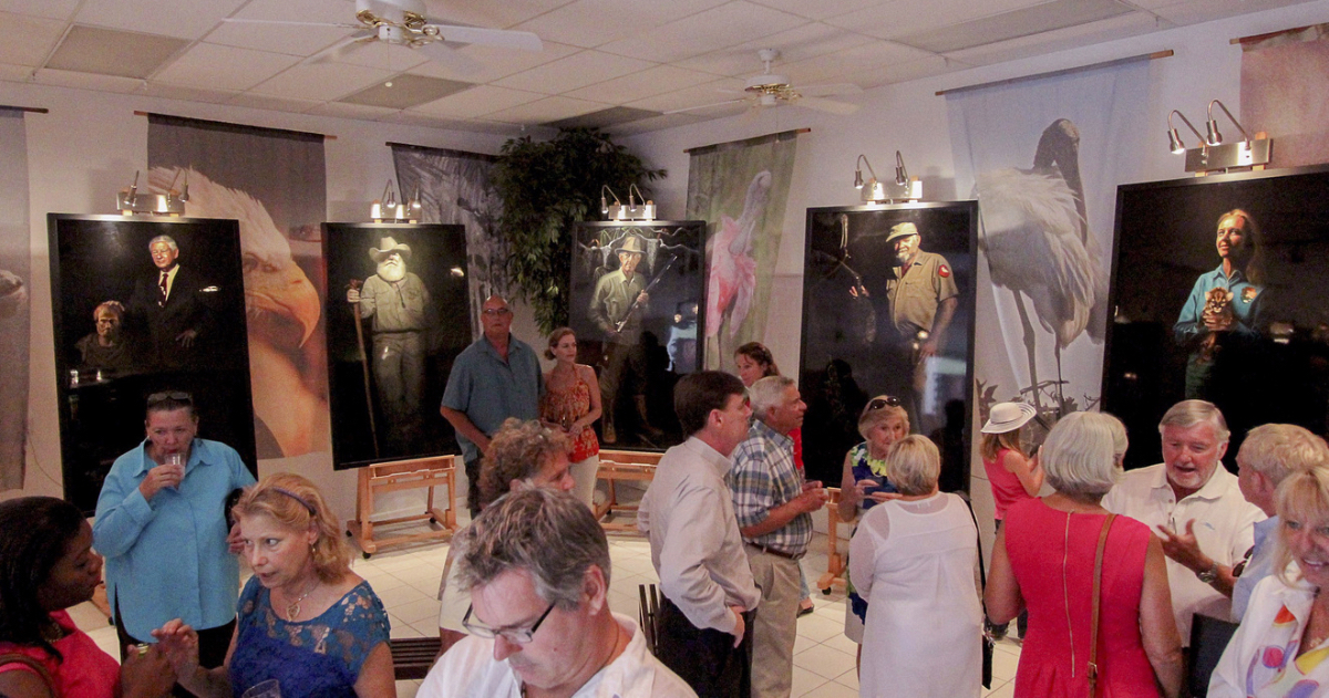 Exhibition Party in the Studio ©Connie Bransilver