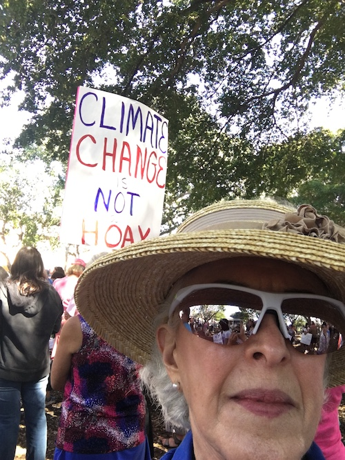 Selfie at the March ©Connie Bransilver