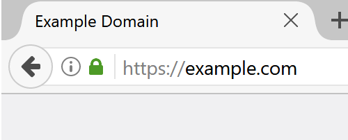 An example of a secure site. Note the green padlock and the 's' at the end of http, in the address.
