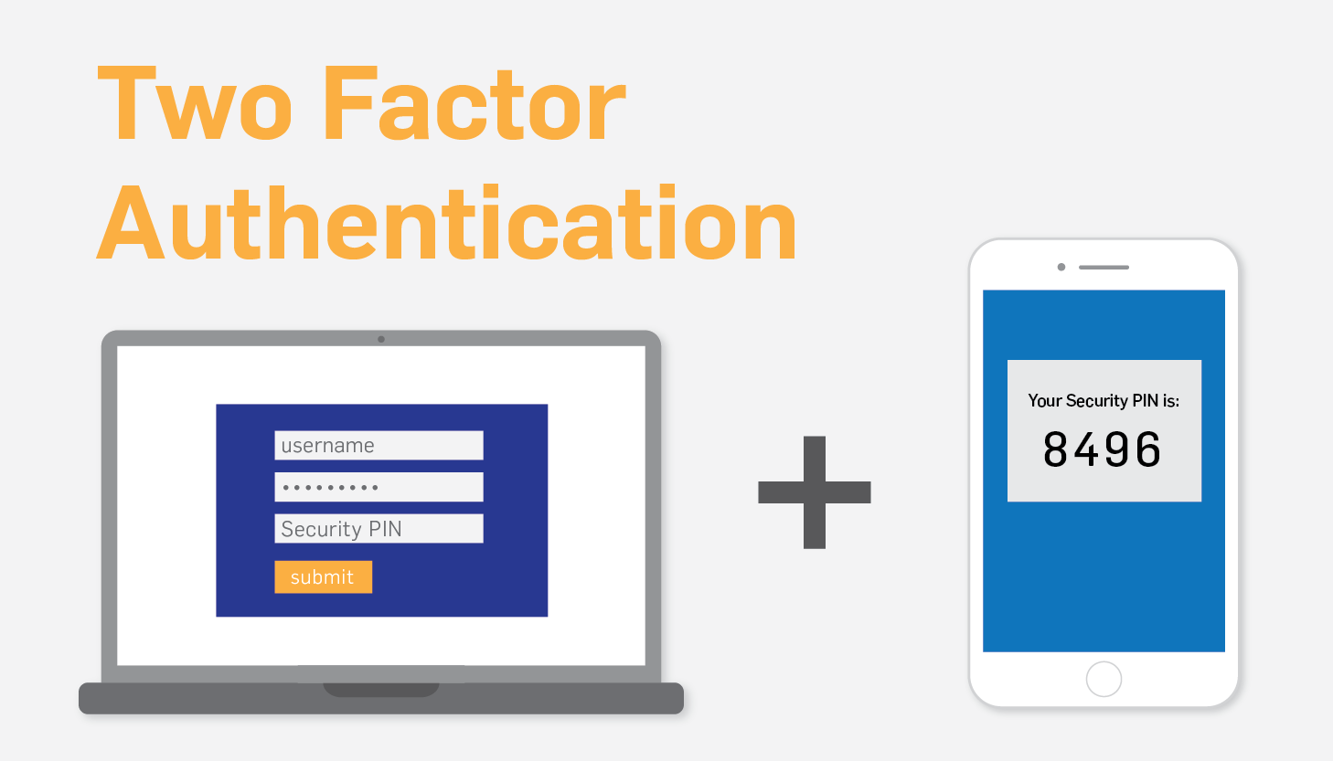 An example of how multi-factor authentication works to keep your accounts secure.