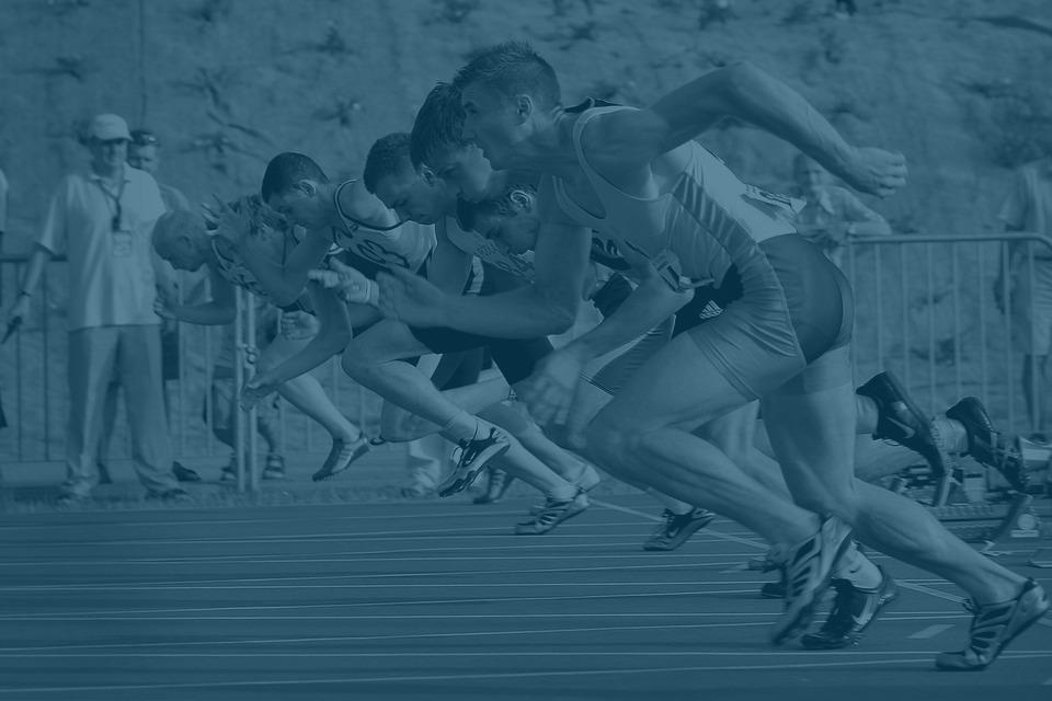athletes racing