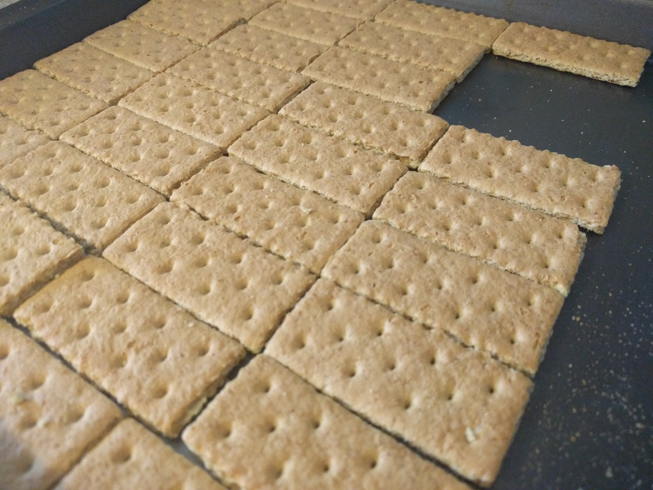 I had forgotten how good graham crackers are on their own! Had a few and felt like I was back in Sunday school.