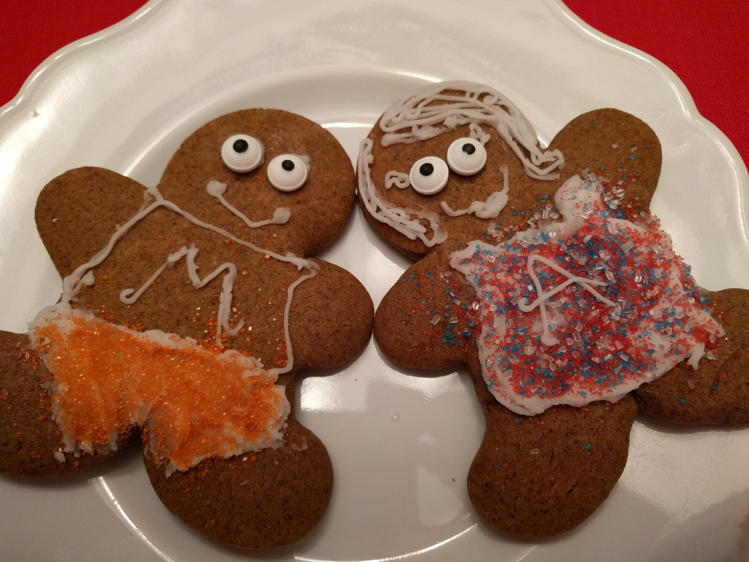 Forgot to give Gingerbread Matthew any hair! Whoops!
