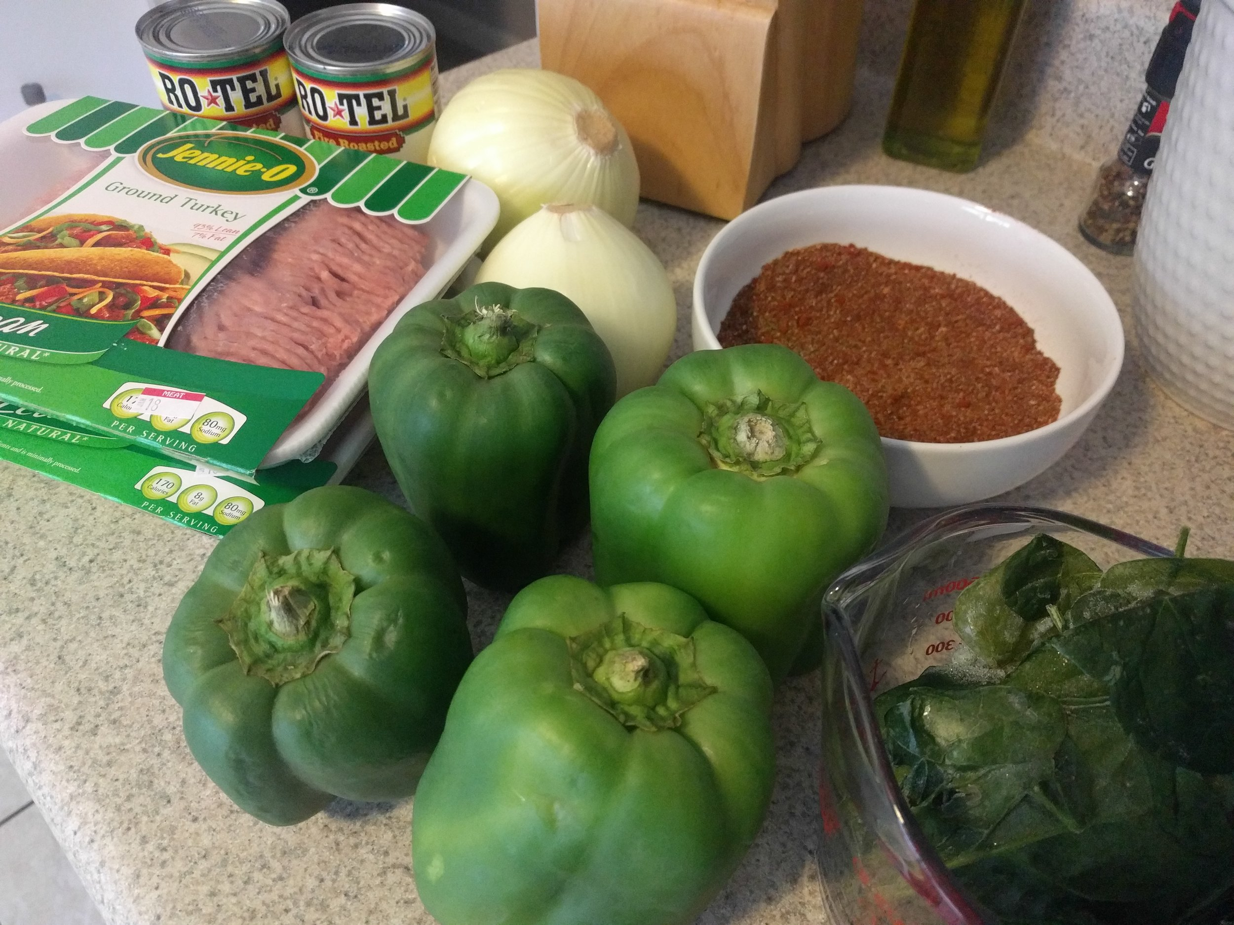 So. Many. Bell Peppers. But that's only because I doubled the recipe!